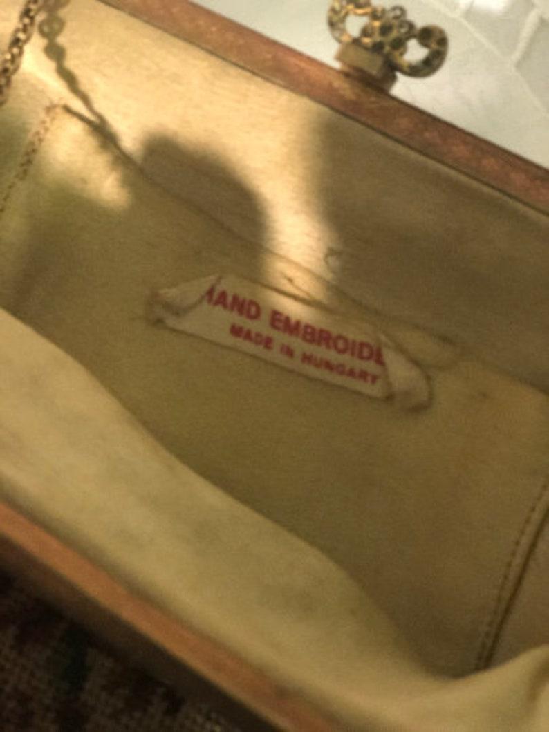Vintage Needlepoint Hand Embroidered Handbag