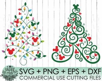 Disney Christmas Monogram SVG for cricut Christmas trees buffalo pattern for toddlers nursery Mickey Christmas print for t-shirt