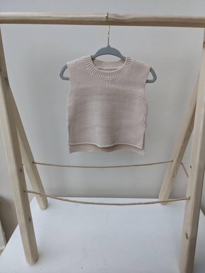 Knitted Baby Vest Jumper Kids Children/'s Knit Top