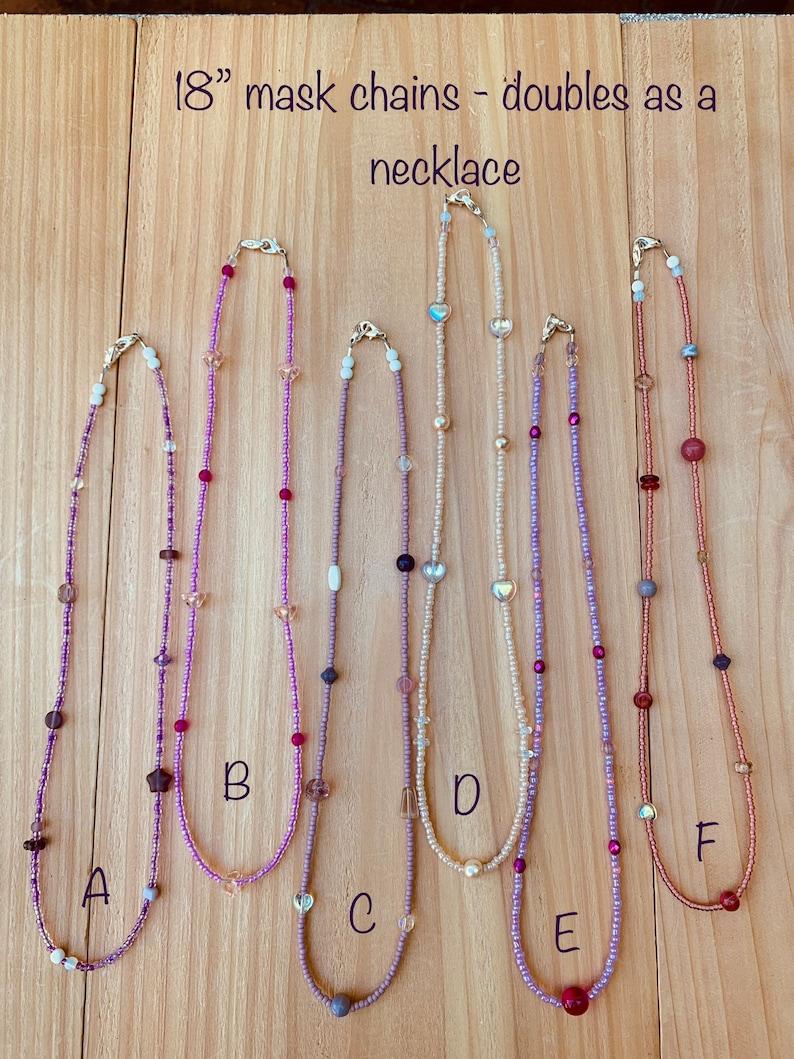 18\u201d Princess Party Beaded Mask Necklaces