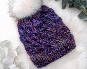 Knitting pattern   PDF   Galaxy Spiral Hat Pattern   Bobble hat   Toque