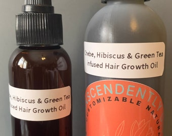 Chebe, hibiscus, & Green Tea Infused Hair Growth Oil