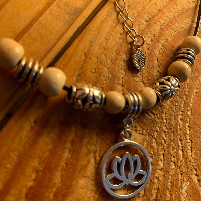 Lotus charm 16.5 adjustable necklace