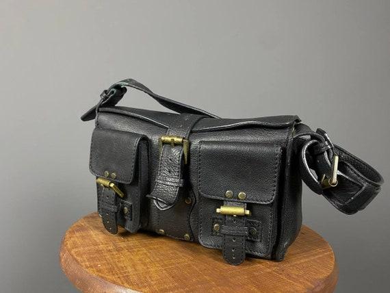 Vintage Mulberry Genuin Leather Black Multi-Pocket