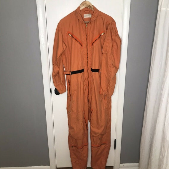 Flight Suit Orange Men's Summer Military Flight Su