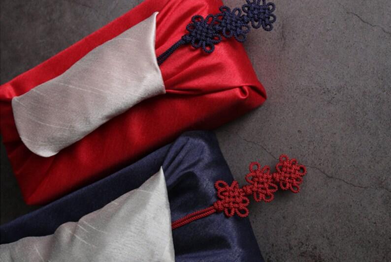 Hanbok Accessory Chinese Tassel Korean Fashion   Traditional Korean Tassel Bojagi Norigae Chrysanthemum 3x Knot Norigae 14 Colors