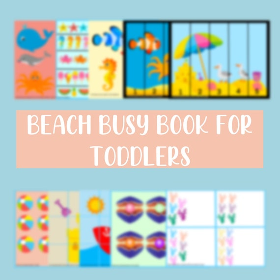 Beach Themed Busy Book for Toddlers