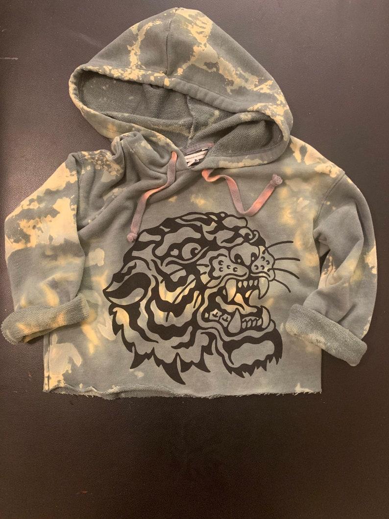 W Cropped /& Bleached Tiger XXS