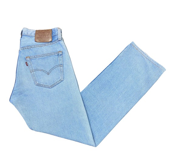 Levis 501 Jeans 90s Light Stone Washed Straight Le