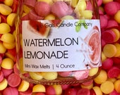 WATERMELON LEMONADE Mini Soy Wax Melts Wax Pebbles Hand Poured Small Batch Perfect Summer Scent Great Gift