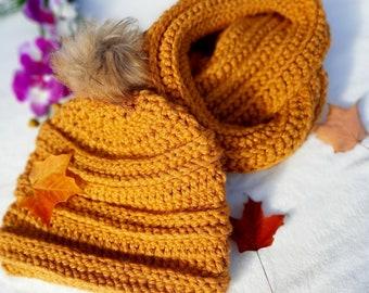 ensemble foulard, echarpe/tuque pour l'hiver