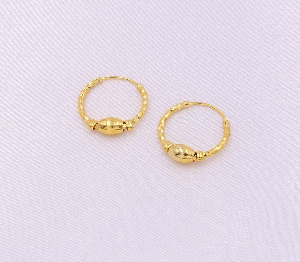 Women Hoop Earrings Punjabi Earrings Bali Nattiyan Earrings Hoops Baliyan 24k Gold Titanium Bali Hoop Earrings Nattiya Gold Hoops