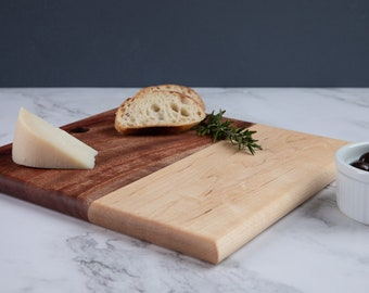 Wood Serving Board, Cheese Board, Charcuterie Board, Cutting Board, Mother's Day Gift, Wedding Gift, Handmade, Minimalist Style