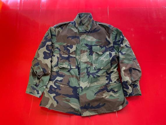 Vintage 80s USA Camouflage Military Jacket