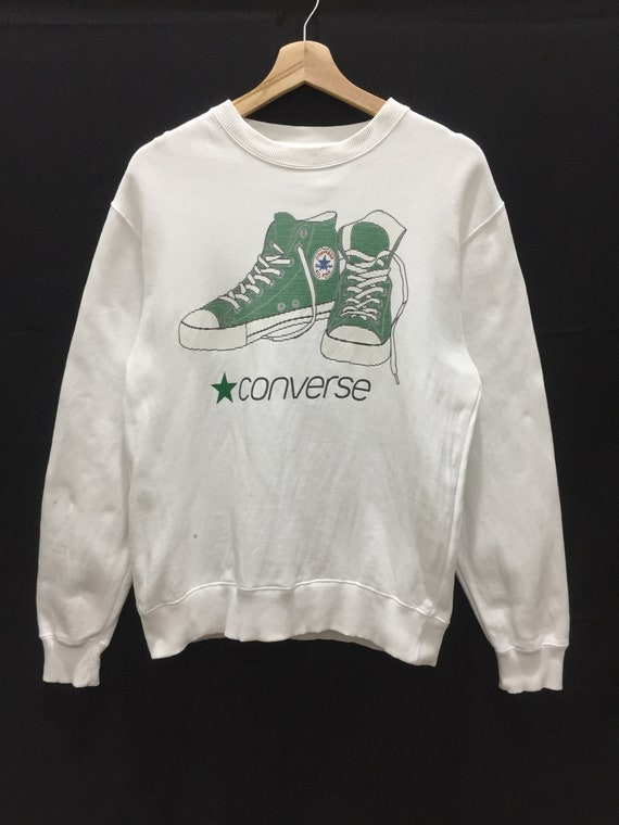 converse big shoes logo spell out sweatshirt jumpe