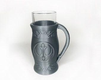 3D Printed Mandalorian Shot Glass (Hex3D model)