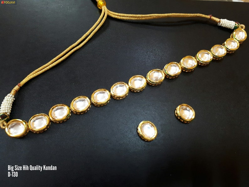 Different Designs for Gold Plated Necklace Earrings Chokar Set Ethnic Tradional Kundan Meena Jewelry Bridal Bollywood Latest Cheapest
