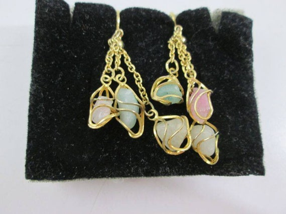 Dangling Jade clip on  earrings