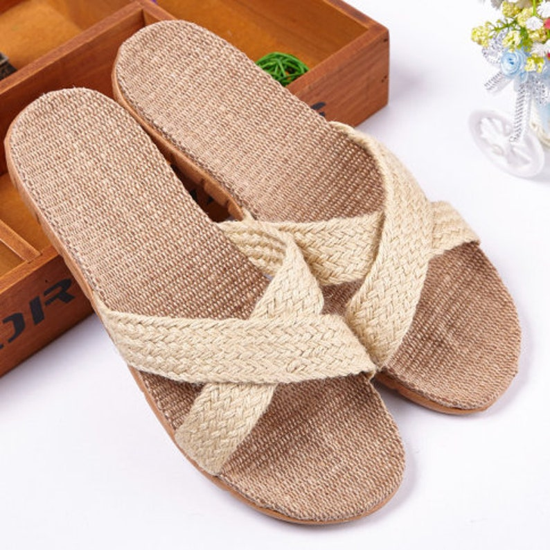 4. Casual Beach Slippers by Exotic Merchant Crafts