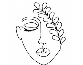 Embroidery File One Line