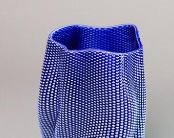 """Porcelain vase #558 """"Coral"""""""