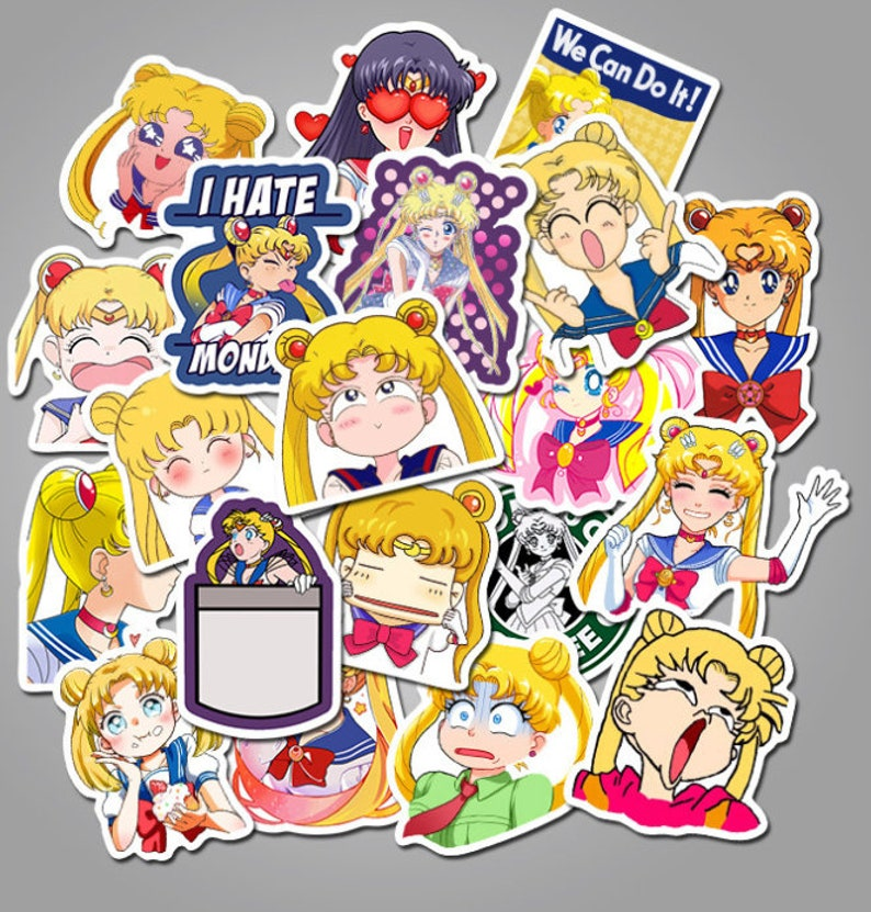 Cool Anime Stickers Sailor Moon Character 50pcs Waterproof Girls Stickers SAILOR MOON STICKERS Graffiti Stickers Sailor Moon Gifts