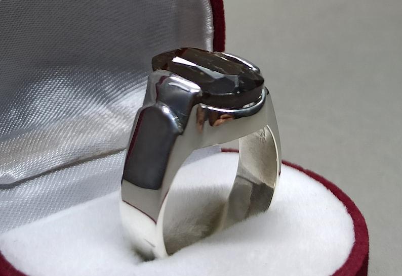 Natural Unheated Untreated 5 Carat Dark Deep Green Beryl Women Ring Sterling Silver 925 Handmade Green Peridot Ring Beryl Ring