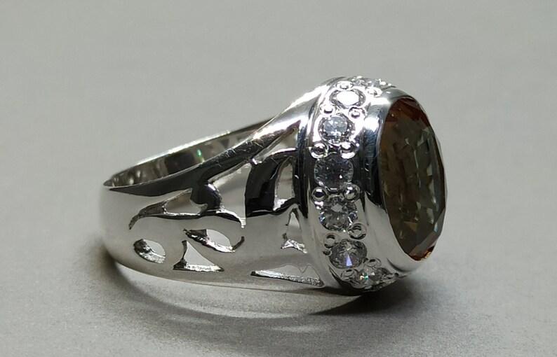 5 Carat Round Cut Color Changing Alexandrite Women Ring Sterling Silver 925 Handmade Rare Alexandrite Anniversary Elegant Ring