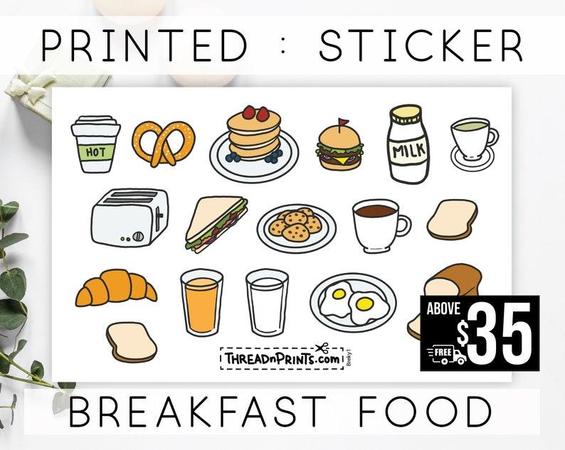 Bullet Journal Food Stickers  Mini Calendar Stickers 2020  image 0