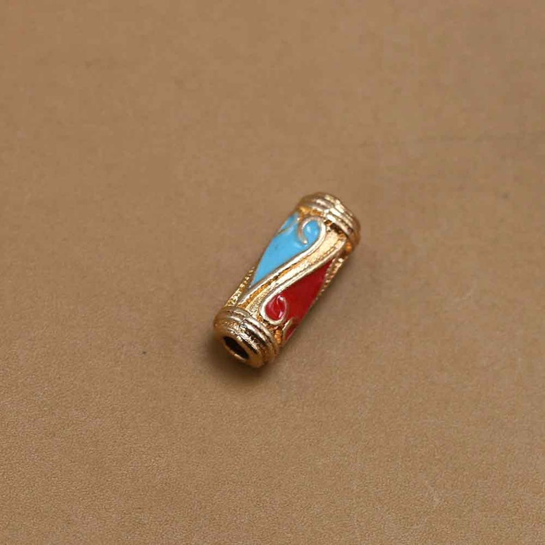 150100pcs Golden Cylinder charms for Women,Luxury charms for Bracelet,charms for necklaces,Pendant accessory,Crafts supplies,DIY charms.