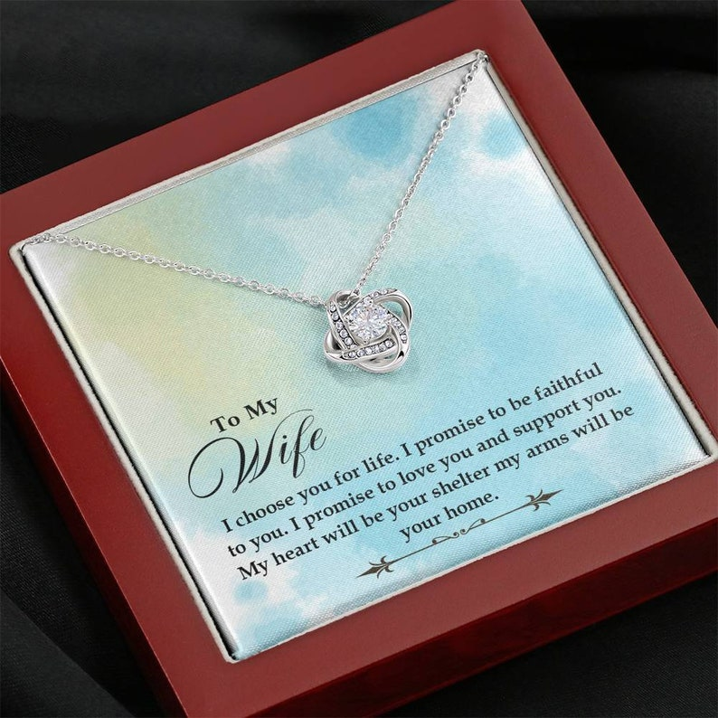 Birthday Gift for Wife Gift for Wife Birthday Necklace for Wife To my Wife Necklace Anniversary Gift for Wife