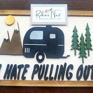 I Hate People I love Camping Lasercut camping decor gift for Camper summer camp signs