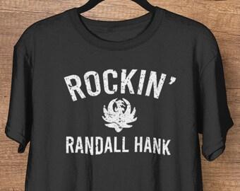 Rockin' Randall Hank Williams Jr. All My Rowdy Friends Country Music Soft Heather Short-Sleeve Unisex T-Shirt