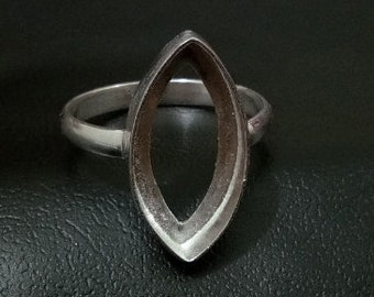 Details about  /925 Sterling Silver 20x10 MM Marquise Shape Ruby Zoisite Vintage Statement Ring