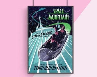 Original Space Mountain Poster, Wall Decor, Home Decor, Poster print