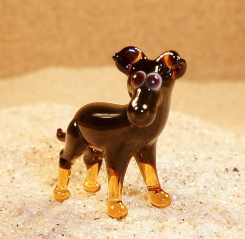 price for 1 piece made in Czech Republic glass animal  figurine n.62 21x17x7 mm size approx quality handwork Prague Ratter
