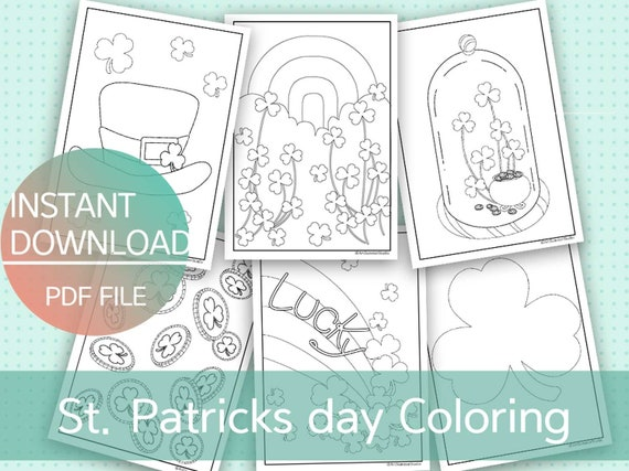 St. Patrick's Day Coloring Pages for Kids Printable