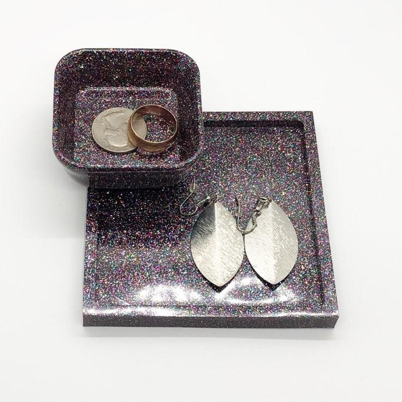 Weekend Goth Sparkle 2-Tier Jewelry Dish