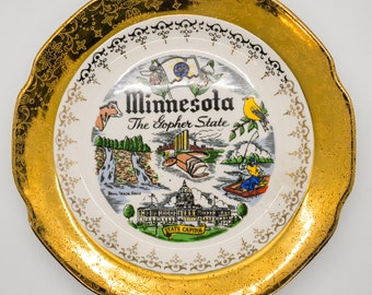 Vintage Collectible Keepsake Tourist Bemidji Minnesota Plate souvenir