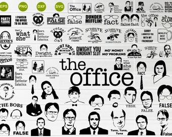 Mega bundle The Office SVG , Dunder Mifflin Svg, Dwight Schrute SVG, Live Everyday Like It's Pretzel Day,The Office Clipart,digital file svg