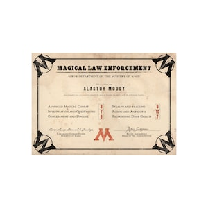 American Marriage License Certificate Personalized for a Witch and Wizard