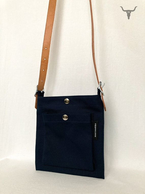 Marimekko Pasi Navy Blue Shoulder Bag