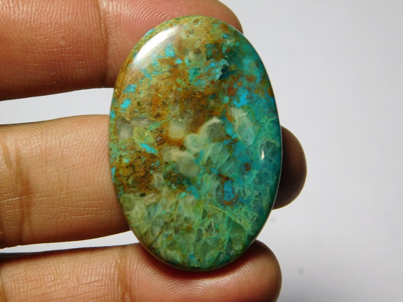 MM 42X28 Natural chrysocolla Cabochons,chrysocolla Gemstone,chrysocolla Loose Stone,chrysocolla semi precious Hand Polished jewelry 71Cts.