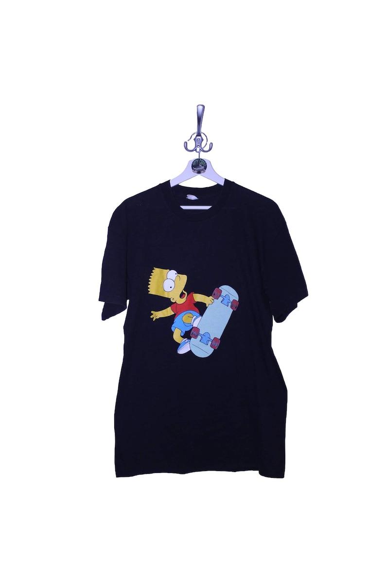 Vintage The Simpsons Bart Simpson Tee T-Shirt USA 90s single stitchgood condition