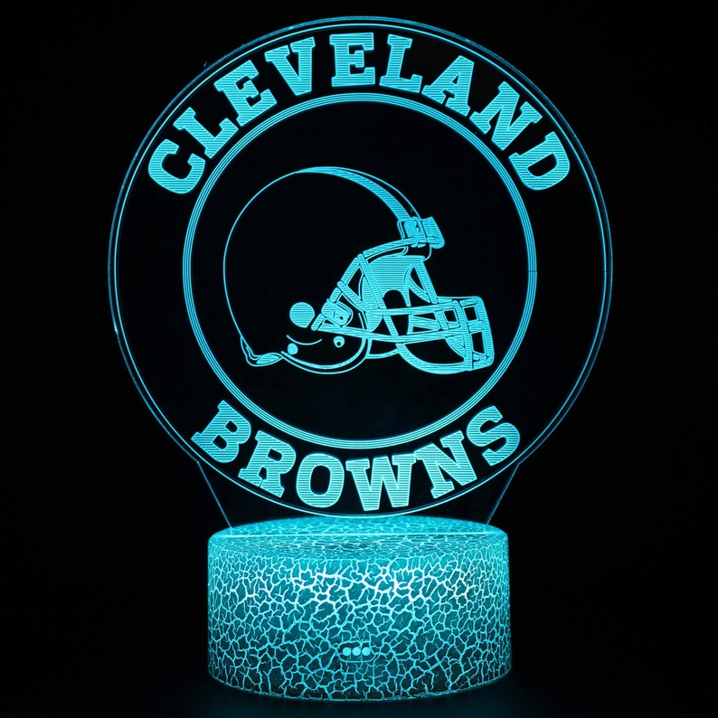 custom neon sign light,Bedside Lamp Decal Cleveland Browns lamp   decor  LED Multicolor Night Light Lamp