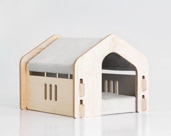 House for Cats and Small Dogs, cat hut, dog hut made of wood, cat house dog house, pet beds cute