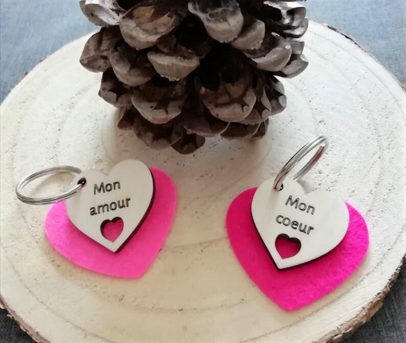 Valentine's Day gift set custom key holder 2ft image 0