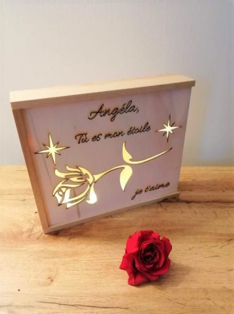 Bright bright stylus wooden box on Valentine's Day image 0