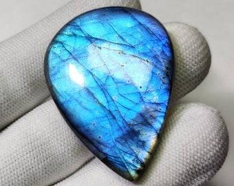 100/% Natural 27x19x7.50MM Sky Blue Labradorite Square Shape Sky Blue Fire very Amazing Quality