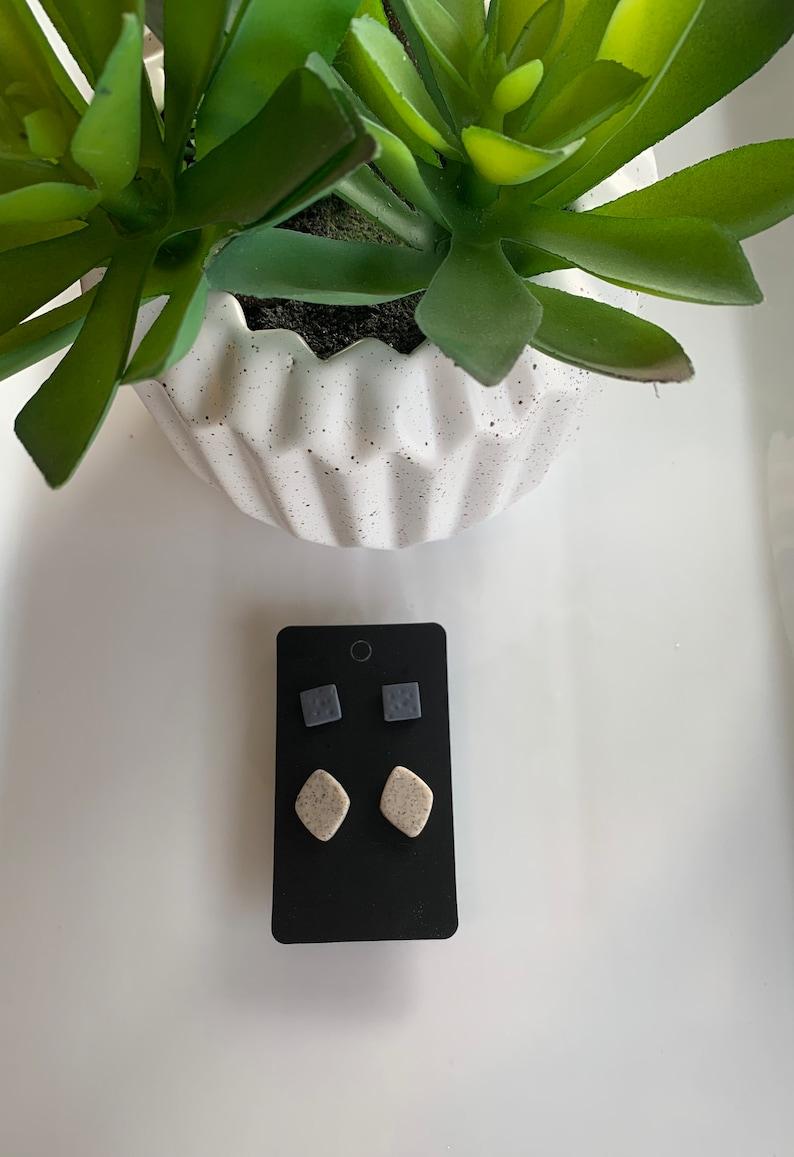 Stud Pair Handmade Polymer Clay Earrings